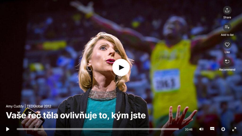 Vaše řeč ovlivňuje to, kým jste (Amy Cuddy)
