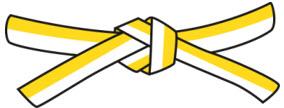8.kyu - bíložlutý pásek