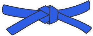 2.kyu - modrý pásek