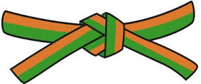 4.kyu - oranžovozelený pásek